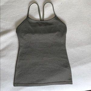 Gray Lululemom workout tank